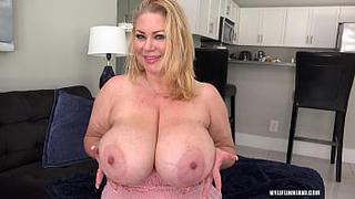 Big natural tits! Samantha 38g gets fucked silly