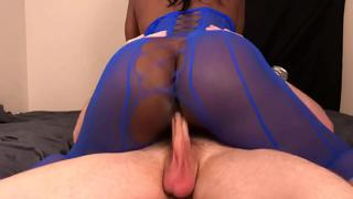 Black Teen Gets Fucked By White Guys Dick Until Cumming