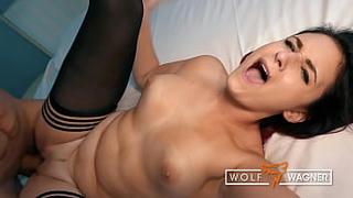 Sweet MELINA MAY loves fucking & enjoys her filthy blind date (FULL SCENE)! ▁▃▅▆ WOLF WAGNER DATE ▆▅▃▁ wolfwagner.date