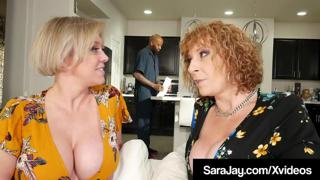 Chocolate Cock Hungry Sara Jay Fucks Big Black Cable Guy!