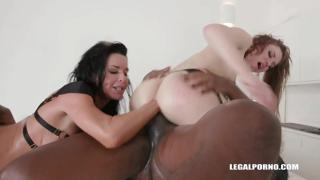 Interracial gangbang with double fisting for Veronica Avluv & Monika Wild