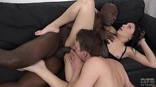 Wife fucked in front of husband enjoying his cuckold pleasure